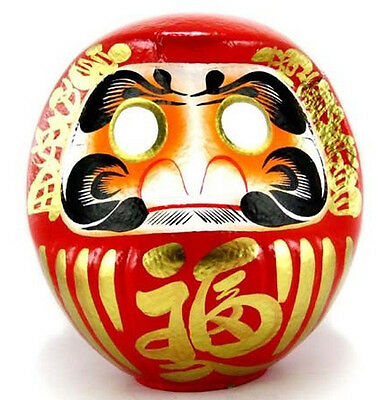"Japanese 19.5""H Classical Red Daruma Doll for Luck & Good Fortune, Made in Japan"