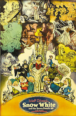 """""""SNOW WHITE & THE SEVEN DWARVES""""Classic Animated 1937 Movie Poster A1A2A3A4Sizes"""
