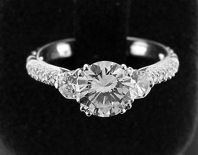 1.83 cts Round Brilliant Cut Diamond GIA Certified K,VS2 Engagement Ring 18K W/G