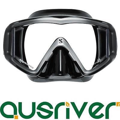 Black Scubapro Crystal Vu Mask for Scuba Divers & Snorkelers Single Lens Design
