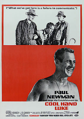 """COOL HAND LUKE""..Paul Newman George Kennedy Classic Movie Poster A1A2A3A4 Sizes"