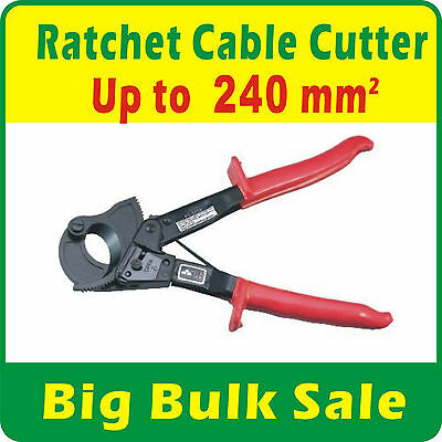 Ratchet Copper Cable Cutter up to 240mm² Electrical Hand Tool Wire Cutter 325A
