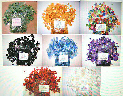 1 Bag Of 100g Of Art & Craft Sewing Buttons  Various Colours Approx 200 Per 100g