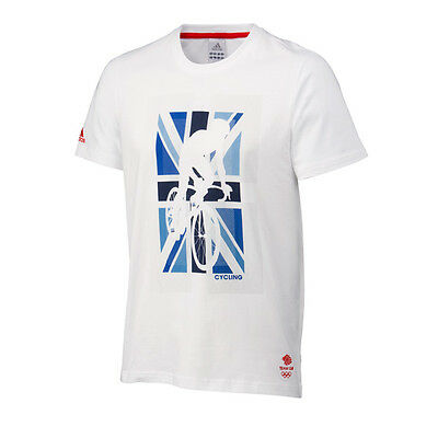 Adidas Men's Olympics London 2012 Team GB Iconic Cycling T-Shirt, Size XL (SY40)