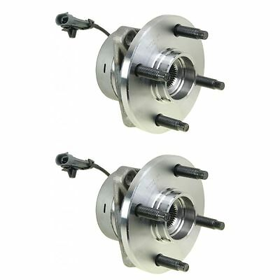 Front Wheel Hubs & Bearings Pair Set of 2 NEW for Chevy Pontiac Saturn w/ ABS