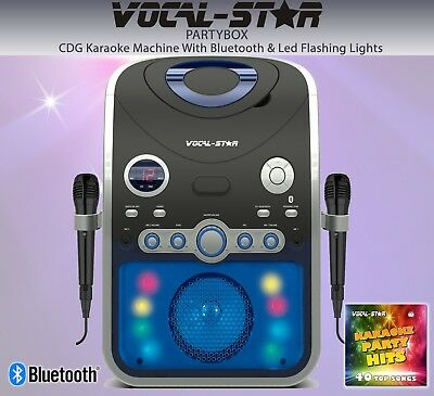 Vocal-Star Vs-1200 Karaoke Home Pub Tower Speakers - Bluetooth - Songs And Mics