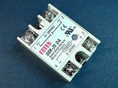 Solid State Relay SSR-25DA 25A 3-32VDC Output 24-380V AC Solid State Module