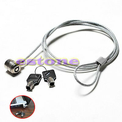 1PC NEW Notebook Laptop Computer Security key Lock Cable Chain