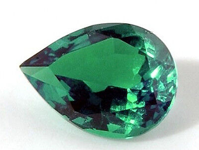AAA Rated Pear Bright Green Hydrothermal Lab Created Emerald (5x3mm to 12x8mm)