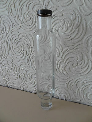 Vintage Glass Rolling Pin With Metal Screw Cap
