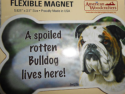 Pet Theme Flexible Magnet-Bulldog