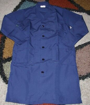 "Best Medical L/S Men Lab Coat Button 3 Pocket 42"" Length Navy Sizes XXS - 7X"