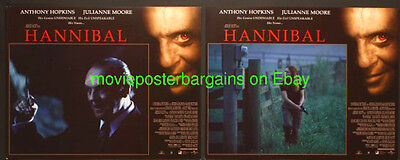 HANNIBAL LOBBY CARD size 11x14 MOVIE POSTER Complete Set of 12 ANTHONY HOPKINS