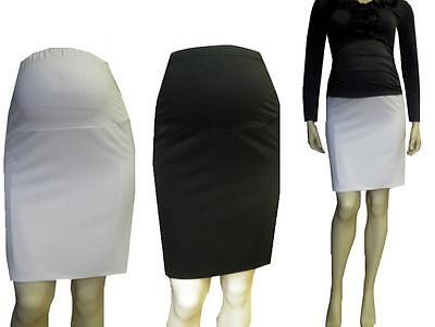 Maternity Pregnancy Pencil Elegant Smart Mini Skirt Formal size UK 8 10 12 14 16