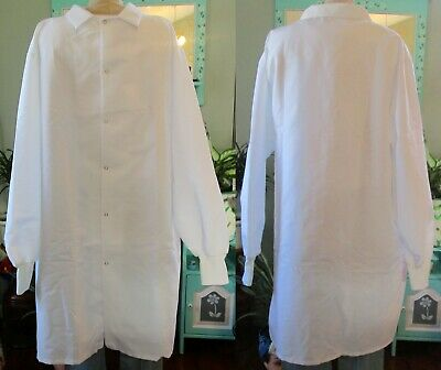 "Best Medical Unisex Lab Coat Long Sleeve W/ Knit Cuff 42"" Length White Size 2X"