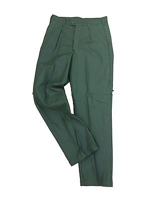 Vintage Swedish Dress Trouser, twill, gabardine Olive 3 pocket trouser