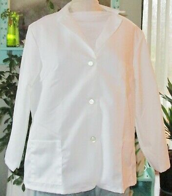 "Best Medical L/S Women Lab Coat Button 3 Pockets 26"" Length White L to 4X"