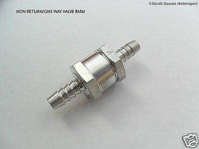 Fuel Non Return/One Way Valve for 8mm  Fuel Hose - Petrol/Diesel/Bio Fuels etc..