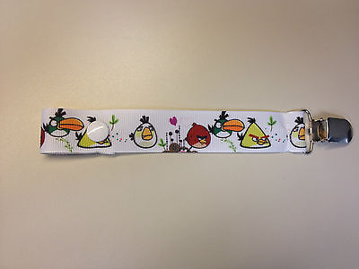 Angry Birds Pacifier Holder Clip