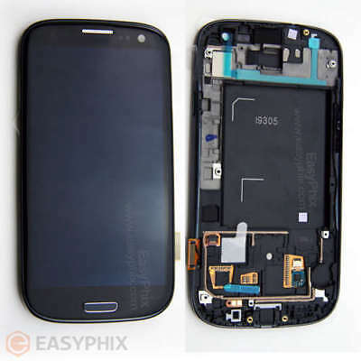 LCD Digitizer Touch Screen Glass with Frame for Samsung Galaxy S3 4G i9305 Black