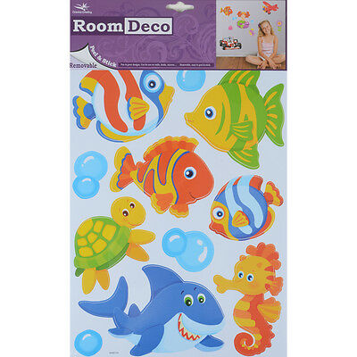Wholesale Job Lot 48 Packs New Room Decor Removable Wall Stickers - Marine Fish