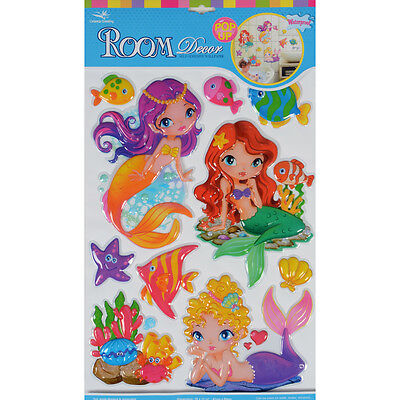 Wholesale Job Lot 72 Packs New Mermaids Pop Up Removable Room Decor Wall Sticker