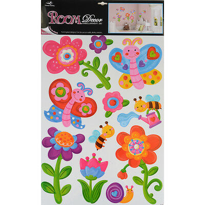 Wholesale Job Lot 48 Packs Wall Art Room Decor Removable Wall Stickers - Flowers