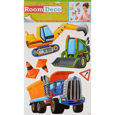 Wholesale Job Lot 48 Packs New Room Decor Removable Wall Stickers - Construction