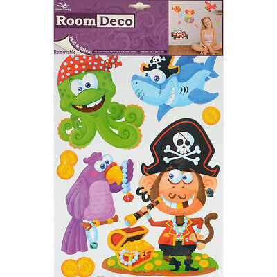 Wholesale Job Lot 48 Packs New Room Decor Removable Wall Stickers - Pirates