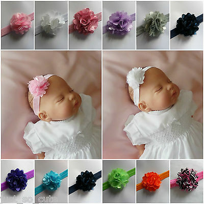 # Baby girls headband Hairband Small Flower Soft Elastic Band  0/6 months #
