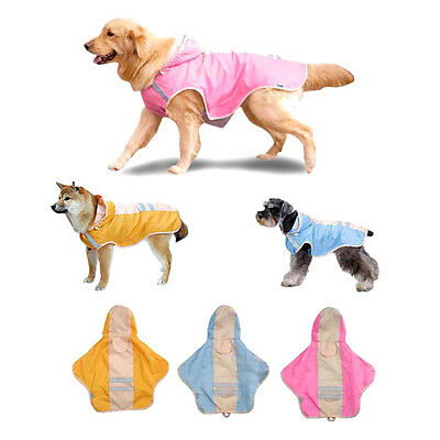 New ASUKU 3 Color Full Waterproof Reflective Cute Raincoat For Small-Large Dog