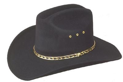 New Western Cowboy Stetson Black Cattleman Hat - Fancy Dress - S,M,L,Xl,61,62,63