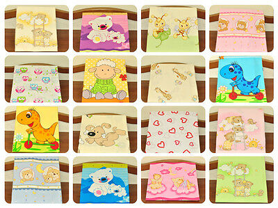 Nursery Baby Cotton Fitted Sheet 90/40 cm/ Baby Crib/ Many Design/
