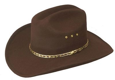 Mens Ladies Rodeo Western Stetson Cowboy Hat Brown Cattleman Style