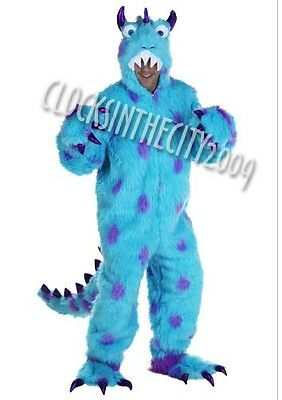 Sully Disney Monsters Inc Adult Mascot  XL Blue Fur Costume Suit New Sulley