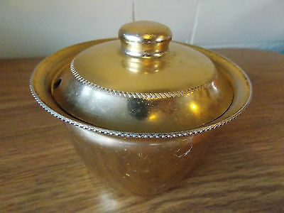 Vintage Antique Collectable Retro Gold Anodised Lidded Sugar Bowl Duchess
