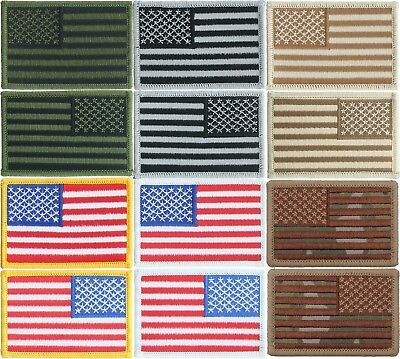 """USA American Flag Patch, Sew On Iron On Embroidered Patriotic Patch (2"""" x 3"""")"""