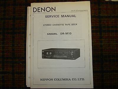 denon dr m10 cassette player repair manual