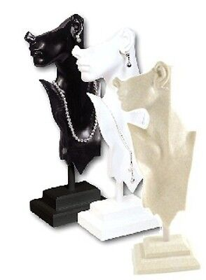 "19 1/2"" tall DAZZLING MANNEQUIN EARRING NECKLACE DISPLAY BUST JEWELRY DISPLAY"