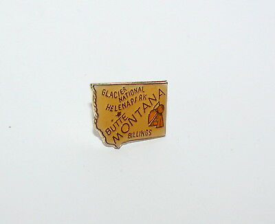 Vintage State Of Montana Tourist Map Lapel Pin Tie Tac 1980s New NOS