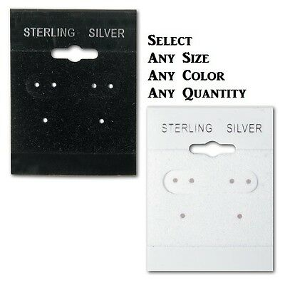 LOT OF 100 Pcs EARRING CARDS STERLING SILVER EARRING CARDS HANGING EARRING CARDS