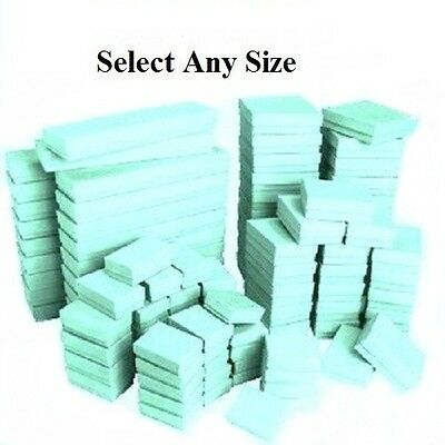 LOT of 20~50~100Pcs TEAL COTTON FILLED BOXES RING GIFT BOXES GREEN JEWELRY BOXES