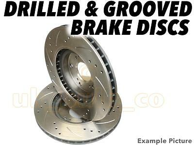 Drilled & Grooved FRONT Brake Discs VW POLO (6N2) 1.4 1999-01