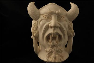 Scariest Pipe Ever Hand Carved by I. BAGLAN Block Meerschaum in fitted case 4748