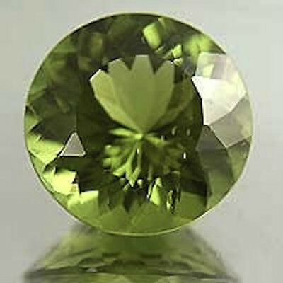 Masterpiece Collection: Round Faceted Genuine Apple Green Peridot (2 to 7mm)
