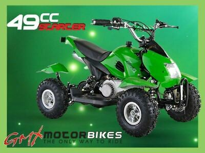 Gmx 49Cc Starter Mini Quad Bike Atv Buggy Kids 4 Wheeler Pocket Bike Green