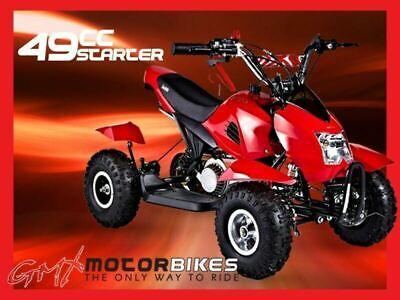 Gmx 49Cc Starter Mini Quad Bike Atv Buggy Kids 4 Wheeler Pocket Bike Red