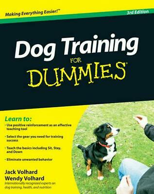 Dog Training for Dummies by Jack Volhard (English) Paperback Book Free Shipping!