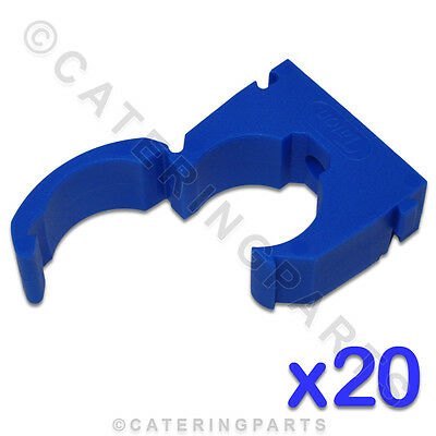 CL117 TALON 20 x HIGH QUALITY 22mm SINGLE HINGED PIPE CLIPS BLUE COLD WATER TUBE