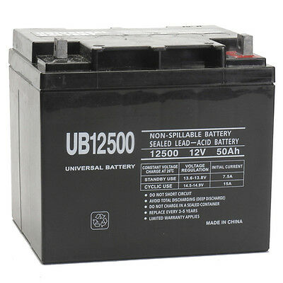 UPG 12V 50Ah Wheelchair Battery Replaces 44ah Interstate BSL1161